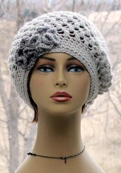 Check out this item in my Etsy shop https://www.etsy.com/listing/269097076/womens-crochet-hat-slouchy-beanie-lace