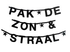 DIY, Make your own banner, zwart - OMM design hipgemaakt