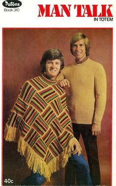 35 pictures from 1970s knitting and crochet pattern books