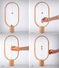 Heng 木球磁吸桌燈,重新思考電燈開關的型態 | 大人物