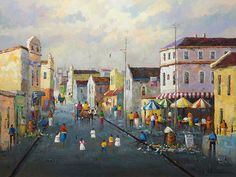 Phillip Britz (SA, born Oil, District Six, Signed South African Art, Painters, Oil, Image, Butter