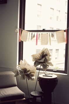 paper decor for NYC blogshop