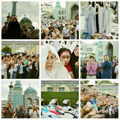 [Eid al-Fitr prayers in Tehran]  Large number of people in Tehran have poured to streets and mosques across the city to perform Eid al-Fitr Prayers in congregation.