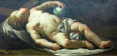 0 arte Giuseppe Antonio Felice Orelli Gesù Bambino dormiente sulla croce particolare 1742