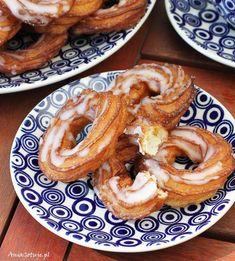 Mini pączki z serków homogenizowanych, 6 Calzone, Onion Rings, Sausage, French Toast, Food And Drink, Cookies, Meat, Baking, Breakfast