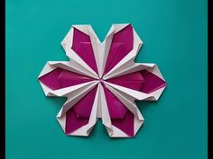 Origami flower ! Not very easy but rich! (by Zoryana Sonsyadlo ). House decor. Ideas for Christmas - YouTube