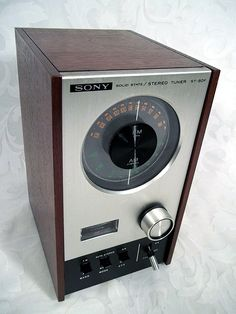 Sold Vintage 1970's SONY Solid State AM/FM Stereo Tuner Model ST-80F #Sony