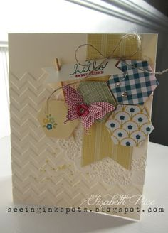 Love the feminine eclectic look of this card