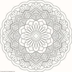Flower Mandala Coloring Pages #392