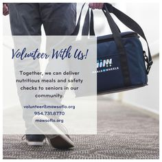 Volunteers make a difference! Join our volunteer team and help deliver more than a meal to a senior in your community!   #MOWSOFLO #MealsOnWheels #SFL