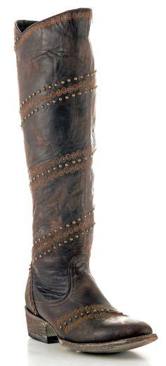 Womens Old Gringo Ardora Boots Chocolate #L1060-4