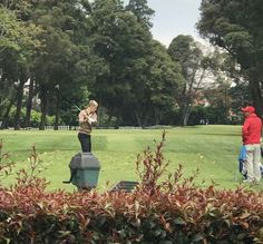 Photo of Justin Bieber spotted out golfing in Bogota, Colombia. (April 9)