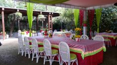 Party arrangement by Yuna Weddings