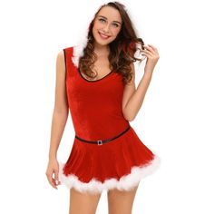 c6ed8423cc46e Hot Sale 2016 Christmas Costumes Dress Ladies Soft Fur Trim Red Santa Teddy  And Skirt Costume Disfraces Adultos Mujer Sexy - FASHION BookFace - Leading  ...