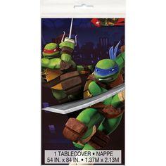 "Teenage Mutant Ninja Turtles Plastic Tablecloth, 84"" x 54"", Tablecovers - Amazon Canada"