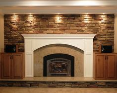 7 Kind Tips: Fake Fireplace Wall fireplace remodel whitewash.Fake Fireplace Wall wood fireplace and tv. Wooden Fireplace, Cottage Fireplace, Candles In Fireplace, Fireplace Garden, Brick Fireplace Makeover, Fireplace Built Ins, Rustic Fireplaces, Farmhouse Fireplace, Faux Fireplace