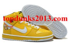 Angry Birds Nike Dunk Yellow High Tops Discount