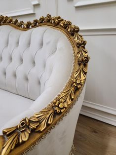 Sofa Sofa, Sofa Upholstery, Art Deco Sofa, Chair Design Wooden, French Sofa, Fancy Hands, Vintage Sofa, Pearl Cream, Gold Wood