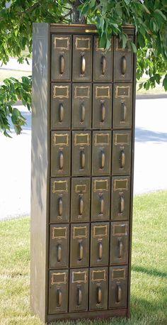 Antique Document Filing Cabinet. $649.00, via Etsy.