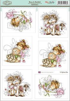 Wee Sylvia Zet die cut topper collection by the Hobby House - Beau & Bashful