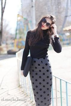 Polkadotted skirt