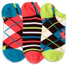 Argyle Critter Liner Socks
