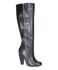 Look at this Bamboo Black Round-Toe Mozza Boot on #zulily today!