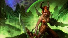 "Legion Art Contest Winners Gallery - Wowhead News -- Second Place: Kosta: ""Demon Hunter"""