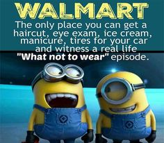 Funny Minion Quote About Walmart Pictures, Photos, and Images for . Funny Minion Quote About Walma Humor Minion, Funny Minion Memes, Minions Quotes, Funny Jokes, Minion Sayings, Fun Funny, Super Funny, Funny Drunk, Hilarious Quotes
