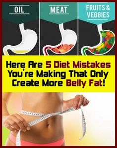 5 Diet errors You only create more Belly Fat! Here are 5 diet errors Put On Weight, Trying To Lose Weight, Weight Gain, Weight Loss, Loosing Weight, Healthy Weight, Get Healthy, Healthy Seeds, Health Tips
