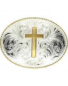 Engraved Cross Belt Buckle