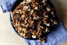 miso black sesame caramel popcorn by -smitten kitchen-