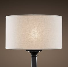 Living ---- French Drum Linen Shade