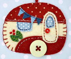 Felt Caravan Ornament, Trailer Christmas Ornament