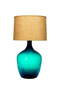 This lamp stands tall at 33.5 inches--major living room statement #HighLow #hgtvmagazine // http://www.hgtv.com/design/decorating/design-101/your-high-low-shopping-list-pictures?soc=pinterest