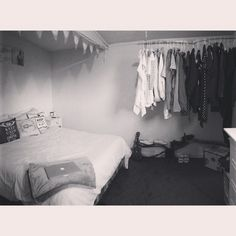 Our new little shack. We had no wardrobe so decided to make our own with a bit of drift wood :) #driftwood #vintage
