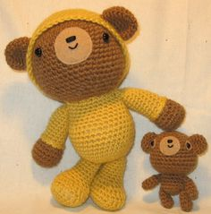 "Teddy in Pajamas & his teddy :)  Pattern in ""Amigurumi Two"" by Ana Paula Rimoli"