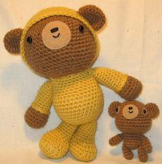 "Teddy in Pajamas & his teddy :)  Pattern in ""Amigurumi Two"" by Ana Paula Rimoli"