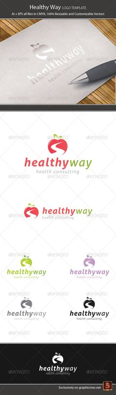 Healthy Way Logo Template — Vector EPS #consulting #vegetable • Available here → https://graphicriver.net/item/healthy-way-logo-template/2066881?ref=pxcr