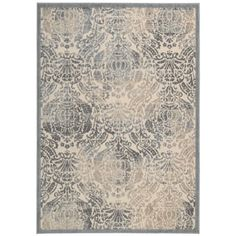 Beautify the look of your home with this Graphic Illusions Damask Rug from Nourison. Ideal for giving your space an elegant touch, this hand-carved rug showcases a damask-style pattern in luxurious hues and a high-low textured pattern for visual appeal. Damask Rug, Area Rugs For Sale, Blue Ivory, Grey Rugs, Online Home Decor Stores, Blue Area Rugs, Colorful Rugs, Rug Size, Illusions