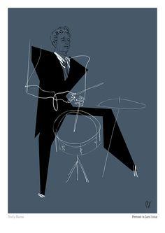 Tribute to Haruki Murakami and his book Portrait In Jazz. Music Artwork, Art Music, Music Artists, Jazz Club, Music Illustration, Illustrations, Music Background, Jazz Poster, Jazz Art