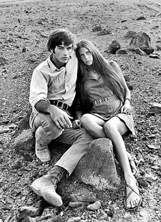 tarkowski:    Daria Halprin & Mark Frechette on the set of Zabriskie Point
