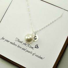 Personalized Mom Necklace Mom Necklace Mother's Day Gifts Mother's Necklace Initials Mom Birthday Gift New Mom Necklace New Mom Gifts (32.00 USD) by StarringYouJewelry