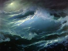 Explore collection of Sea Waves Painting No Wave, Ciel Art, Stürmische See, Stormy Sea, Ocean Scenes, Boat Painting, Wave Art, Sky Art, Sea Waves