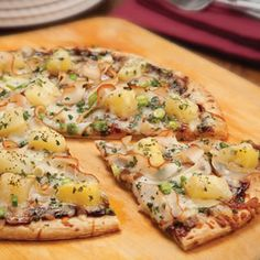 Oven Roasted Chicken Barbecue Pizza with Pineapple