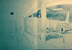 Pov pen sketching at airport yesterday.  Ryan Ottley