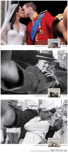 Famous photos turned into self shots...