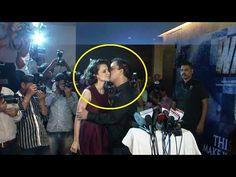 Vidhu Vinod Chopra KISSES Kangana Ranaut at screening of WAZIR.