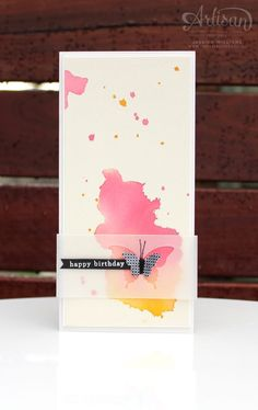 Watercolour & butterflies. Papillon Potpourri from Stampin' Up!