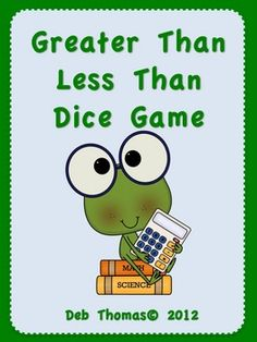 """From DEB THOMAS - FREE  This math unit is used for """"Greater Than and Less Than"""" centers. I use the """"Math Daily 5"""" in my classroom and I use games like this for """"Math by Myself"""" and """"Math with Someone"""". The instructions on how to play are included as well as a reproducible student page for the game. This product is """"Teacher Created"""" and """"Kid Approved""""!!!"""